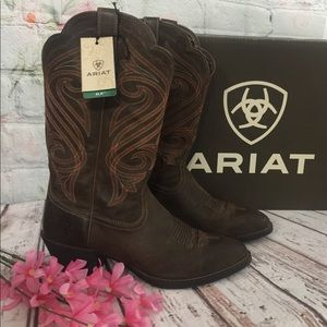 Ladies Ariat Western Brown Leather Boots🎉9